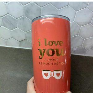 VALENTINES DAY Davids Tea Tumbler Heart I Love You